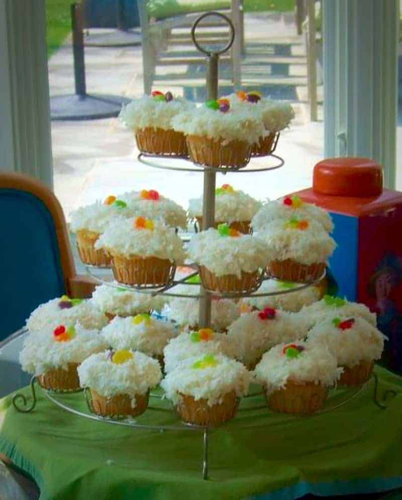 A gorgeous addition to any Easter Table….Andrew decks out Ina Garten's Coconut Cupcakes and Chewing the Fat celebrates our One Millionth reader!