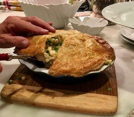 Chicken Pot Pie in a Puff Pastry Crust